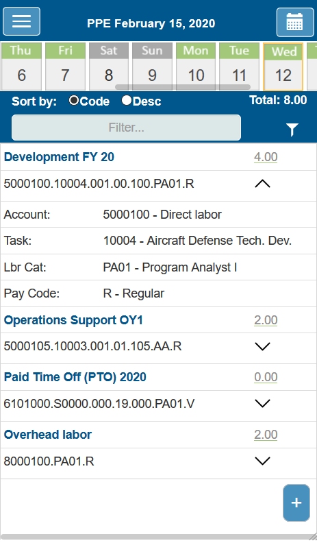 PROCAS Mobile Timesheet - iOS and Android