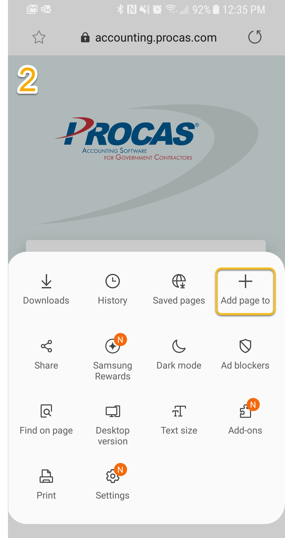Adding Procas Time Shortcut on Android