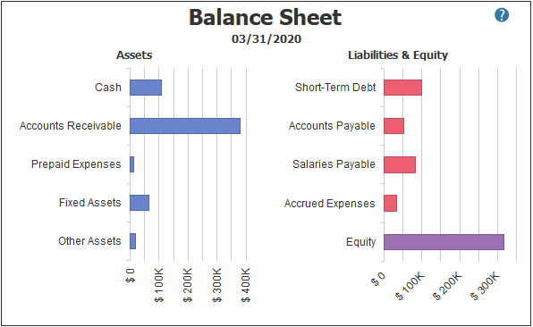 Balance Sheet in PROCAS Accounting Dashboard