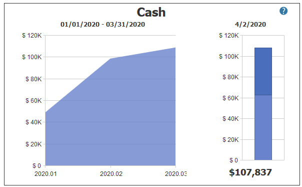 Cash Balance in PROCAS Accounting Dashboard
